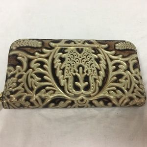 Brahmin Suri Leather Wallet Gold Bel Canto